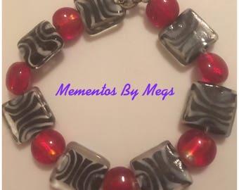 Red and Zebra Bracelet