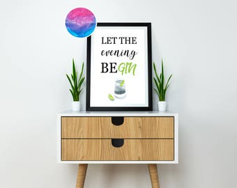 Let The Evening BeGin Home Décor Print by North C Designs