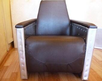 Industrial Aluminum armchair