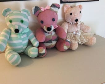 Memory Bears Made to Order and Personalised.