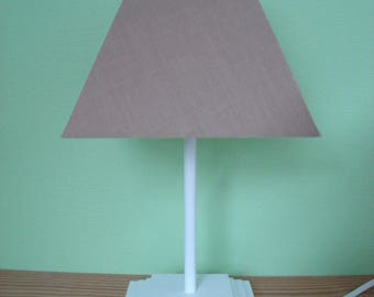 lamp shade of beige and white pyramid