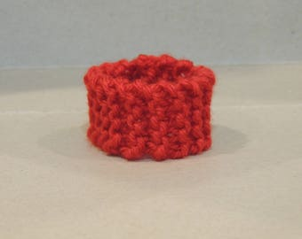 Deep Red Knitted Bracelet