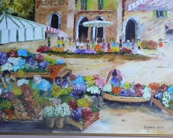 oil painting knife instead of flowers in the Provence market