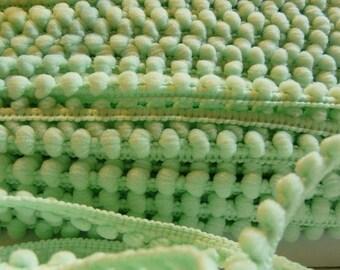 Ribbon braid tassels 6 mm Mint Green