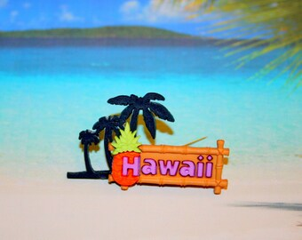 "Plastic pin ""Hawaii"""