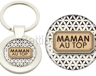 "DELUXE ""THE BEST MOM"" KEYCHAIN"