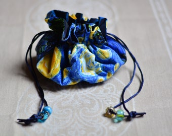 Travel Jewelry Pouch (Van Gogh's Starry Night)
