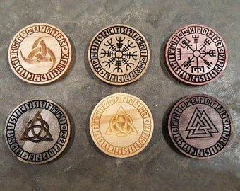 Custom Elder Futhark Coasters/Trivets (Set of 6)