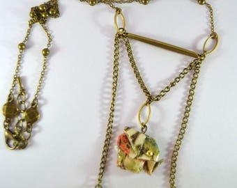 Origami Elephant Zō No. shōmetsu 象の消滅 necklace