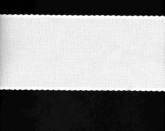 Cotton white ribbon embroidery 10cm wide