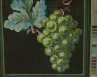 """""""Canvas embroidery""""Grapes""""45 x 52cm."""""""