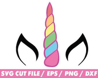 Unicorn svg files, Rainbow svg, Unicorn clipart, monogram frame silhouette svg eps png dxf Cut Print Mug Shirt Decal