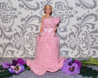 Handmade Crochet Dresses with Barbie Included