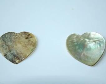Pendant Pearl Heart natural 3 cm