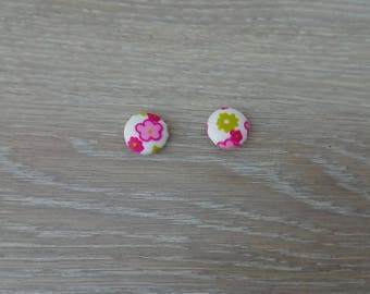 Set of 2 fabric buttons flower