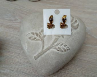 Meerkat earrings gold jewelry