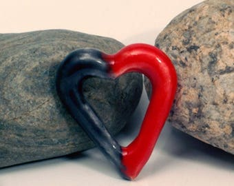 "Female ceramic ""half a heart"" pendant"