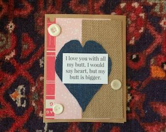 I Love You 1 Handmade Card