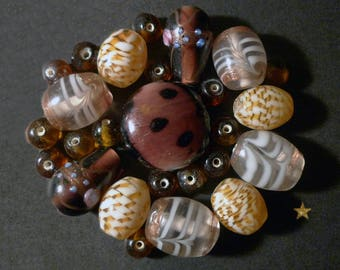 Italian, various shapes Indian glass beads