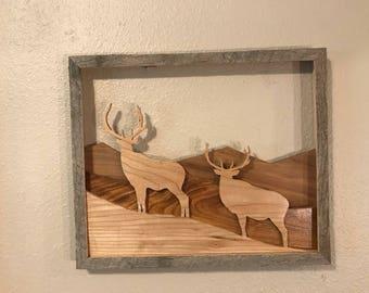 Lot 0765  Bull elk on a hillside