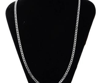 Necklace chain link chain stainless steel, lightweight, 52 cm 1.4 mm thick