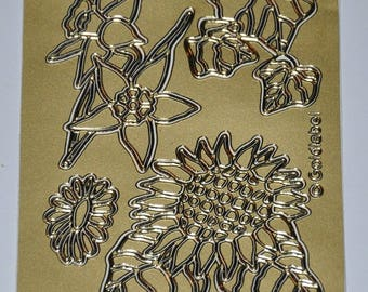 """Print stickers or - """"Sunflower"""" - set of 10"""
