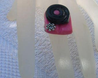 Unique handmade ring candy unisex silver jewel shewing gum and licorice original to enhance your handmade craft