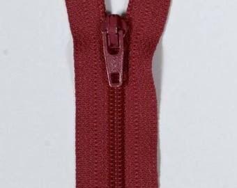 14 cm not separable red YKK zipper
