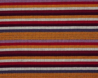 Red and orange striped jersey fabric