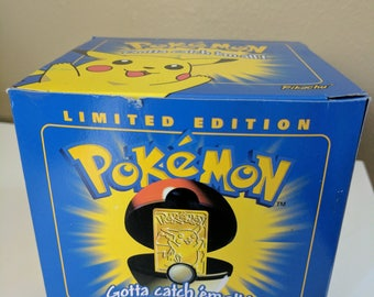 Limited Edition 23k Gold-Plated Pokemon Trading Card- Pikachu