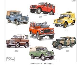 Land Rover Series III (3) - 1971-1985 - Fine Art Print