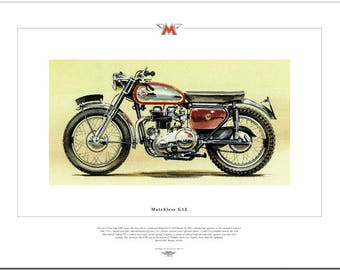 MATCHLESS G12 - Motorcycle Fine Art Print - 650cc Twin British Motorbike