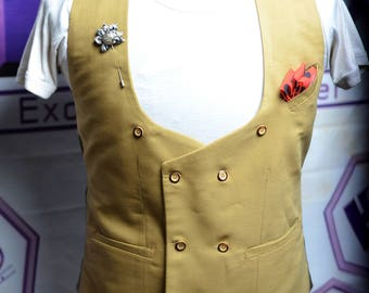 Double breasted male vest waistcoat