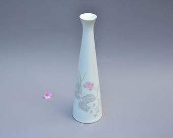 1960s years vase porcellain Rosenthal West Germany hand painted Pariser Fruehling springtime in Paris pink vintage retro