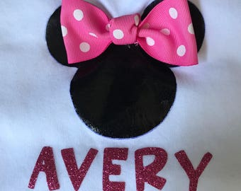 Mickey OR Minnie Mouse Shirt w/Name