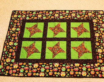 Bright Owls Baby Quilt