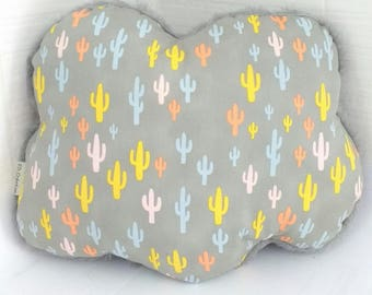 Ouch Ouch! Adorable cactus cloud pillow