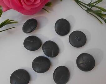 Button 22mm gray dark - sold per 9