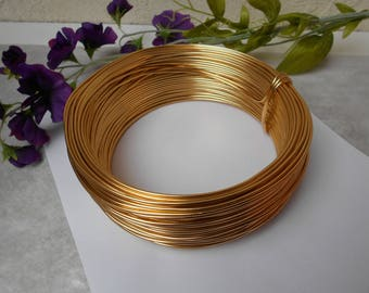 Gold aluminum wire - width 2 mm - length 1 meter