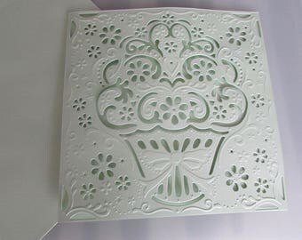 Card embossed blank with envelope