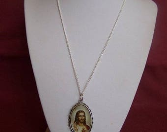 chain with the Sacred - Heart Jesus Medal