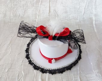Centerpiece Hat Red/Black and white