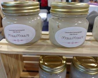 Lavender/Lemongrass Salt Scrub