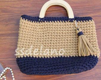 Sea sand handle bag