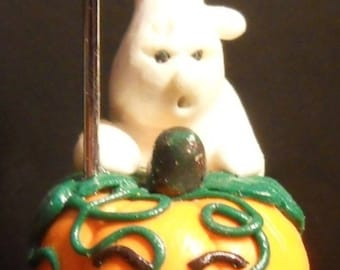 Fimo picture holder and his Ghost for halloween