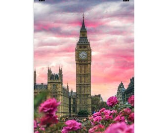 Pink London Photo paper poster