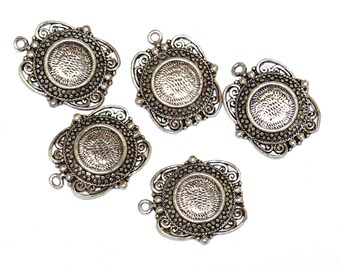 Set of 2 brackets cabochons (for cabochon 13mm)