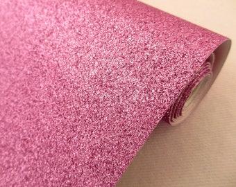 Tissu micro paillettes,  glitter coloris rose parme 30/25cm, à coudre pour customisation, couture et DIY , lavable