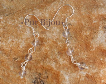 Crystal Quartz and 925 Sterling Silver earrings