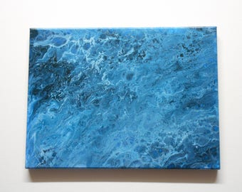 Tidal Pool, Acrylic Flow Painting on Stretched Canvas